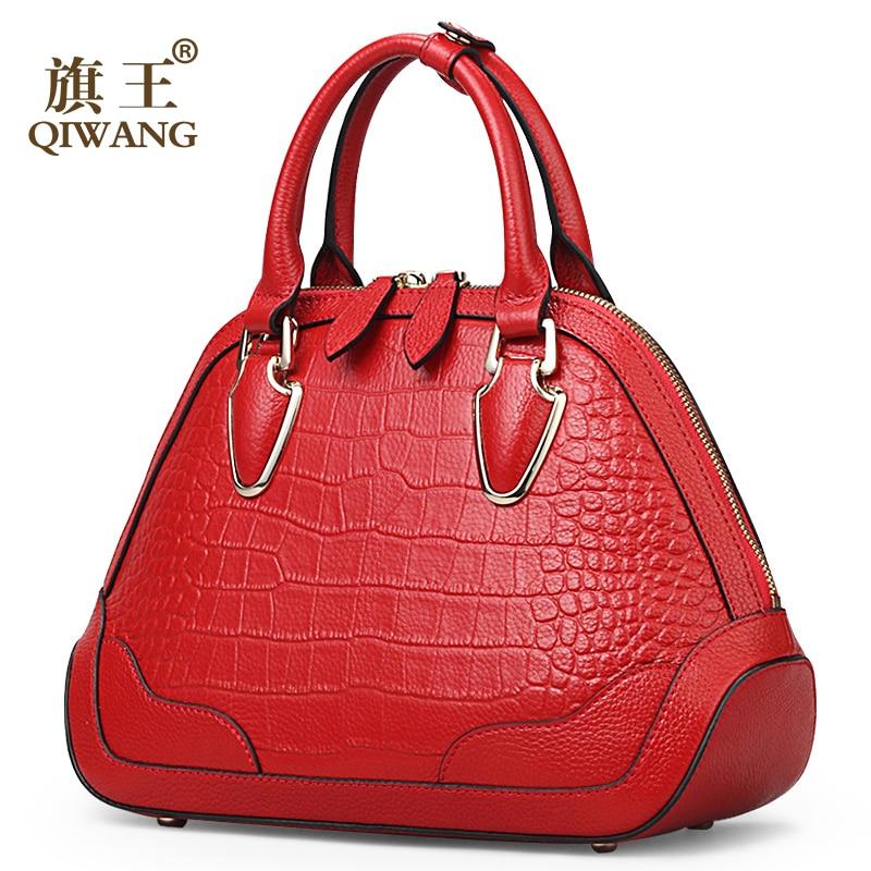купить Shell Nice Superior Quality Red Handbag Women Crocodile Hand bag Brand Designer Classic Shell Bag for Happy Women по цене 4729.91 рублей