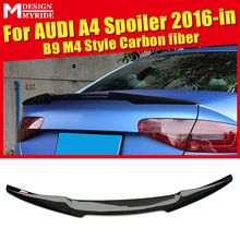 For Audi A4 A4a A4Q High-quality Carbon Rear Spoiler Tail B9 New M4 Style Coupe Fiber Trunk Wing 2016+