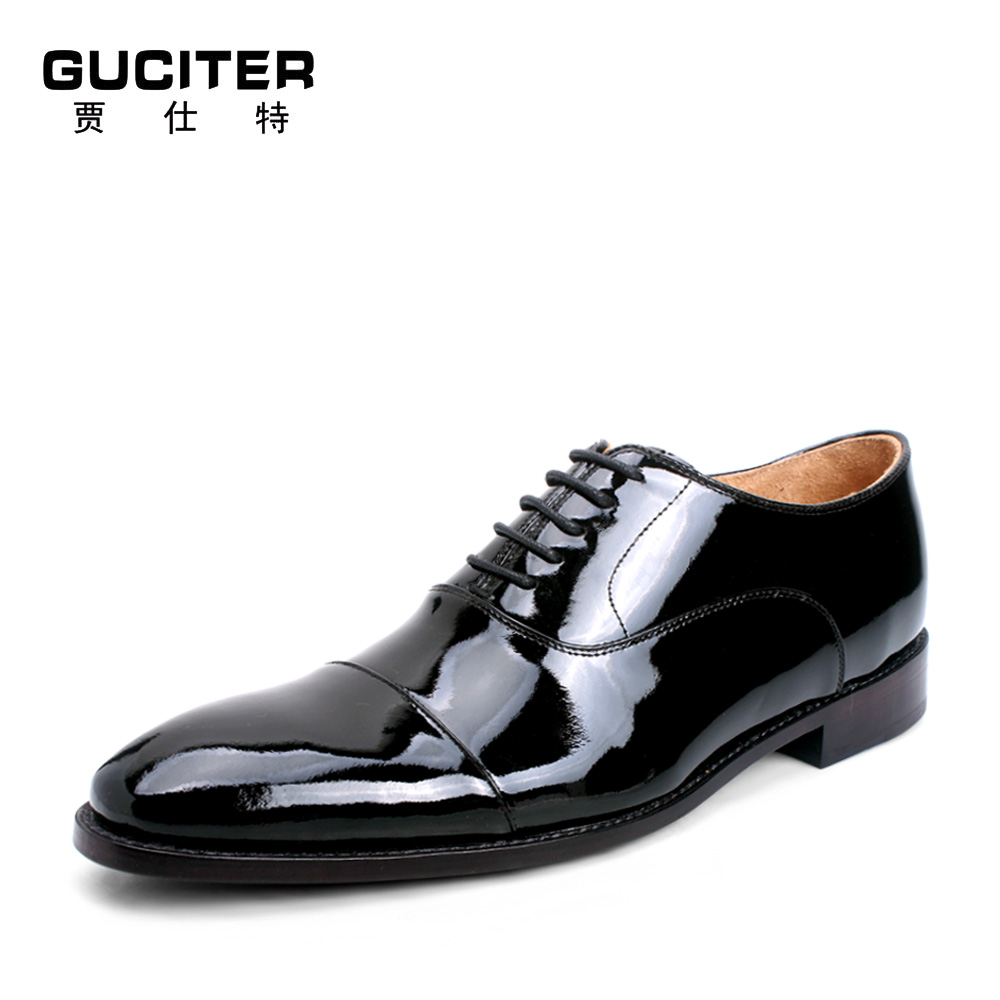 Custom business men leather shoes dress low help young men paint small head layer cowhide hand-made oxfords male