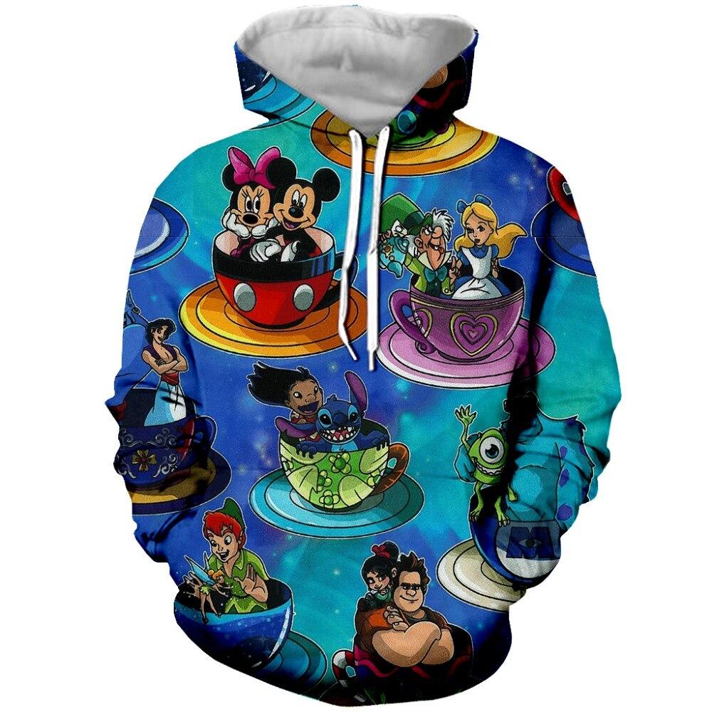 PLstar Cosmos Fashion Hoodies 3d Cartoon Mickey Printed Men Women Hoodie Casual Sweatshirt Tracksuit Unisex Pullover Streetwear hoodie
