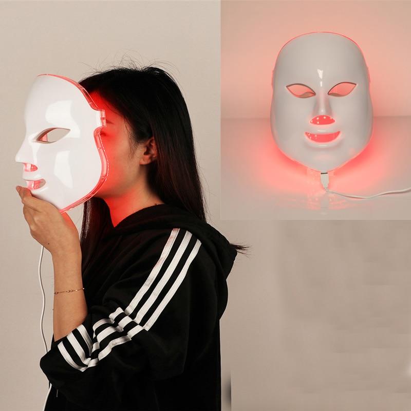7 colori di Bellezza Terapia Photon Maschera Per il Viso LED Luce La Cura Della Pelle Ringiovanimento Rughe Acne Rimozione Viso Centro Termale di Bellezza Strumento di 30