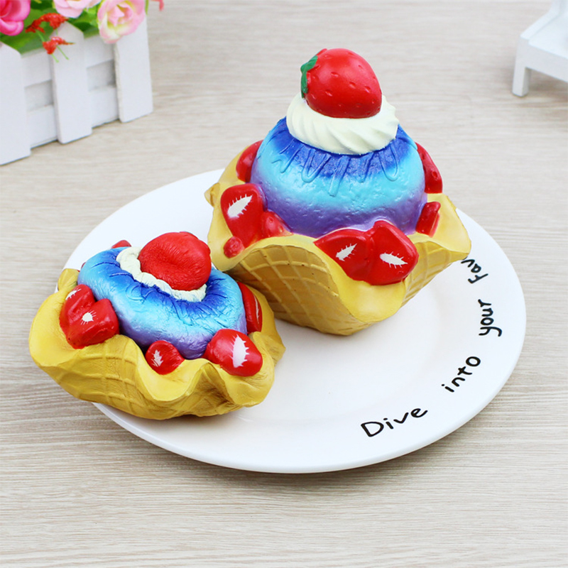 Cute Squishy Toy Strawberry Cake Cream Scented Slow Rising Toy Animal Squeeze Squish Kawaii Straps Antistress Stress Relief Toys