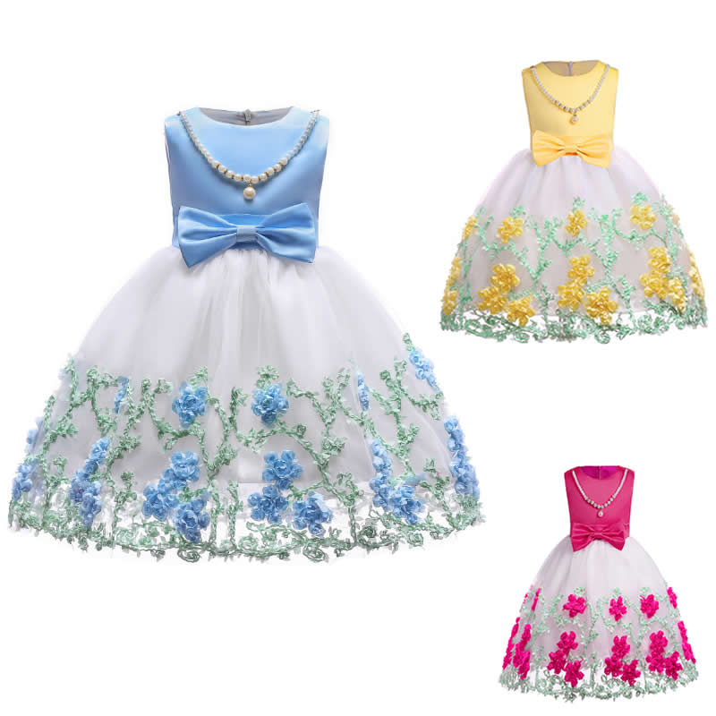 Flower Cake tutu Kids Clothing Elegent hand beading Girls Dresses for Children Princess Party Custumes Wedding Events embroideryFlower Cake tutu Kids Clothing Elegent hand beading Girls Dresses for Children Princess Party Custumes Wedding Events embroidery