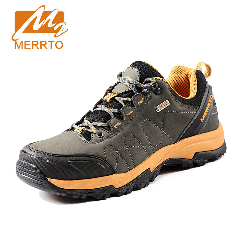 MERRTO Winter men's Waterproof Hiking Shoes  Outdoor Breathable anti-skid camping Boots Mountaineering Climbing Hunting sneakers merrto men s outdoor cowhide hiking shoe multi fundtion waterproof anti skid walking sneakers wear resistance sport camping shoe