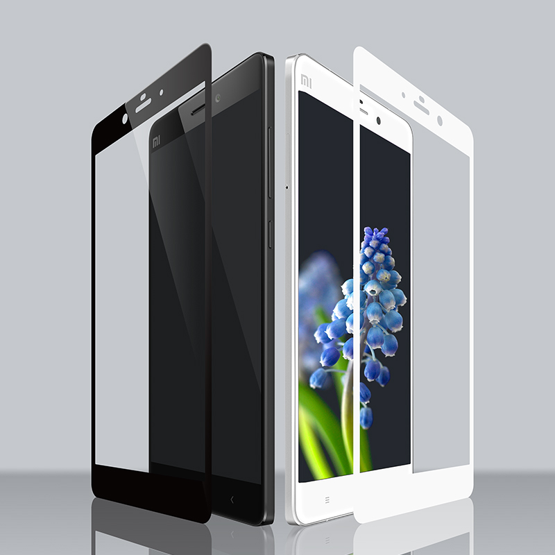 Retail package Full Cover Tempered Glass for Xiaomi Redmi Note 4 4X Xiaomi Max Screen Protective Film whit Sturdy good packing in Phone Screen Protectors from Cellphones Telecommunications