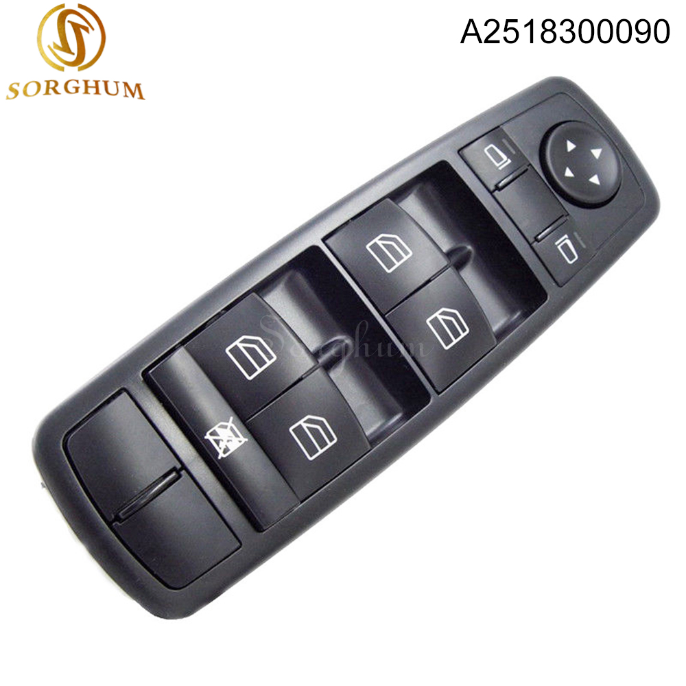 New A2518300090 2518300090 Electric Master Power Control Window Switch For Mercedes Benz ML320 ML350 ML430 ML63 AMG in Car Switches Relays from Automobiles Motorcycles