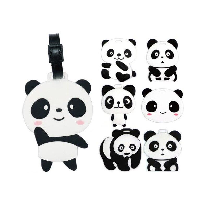 200pcs Cartoon Panda PVC Portable Travel Label Travel Accessories Luggage Tag Suitcase Party Gift Favor Souvenir ZA4593