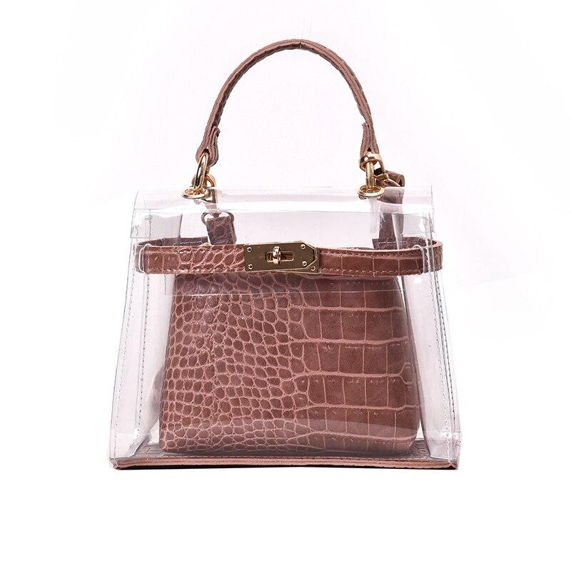Nouveau sac à bandoulière d'épaule de mode pour les femmes 2019 Designer PVC sac de plage Transparent femme sac à main sac à main sac Transparent