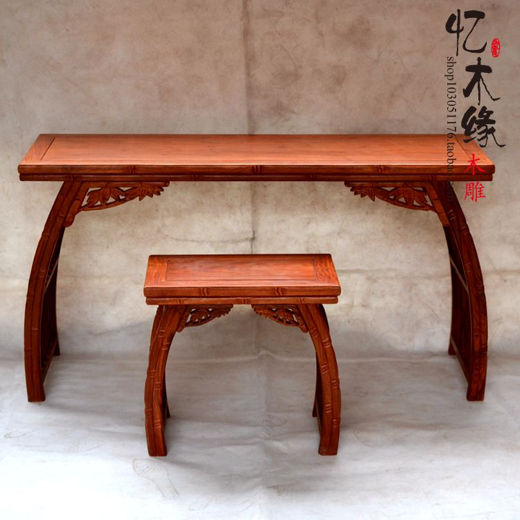 Ming and Qing Dynasty classical mahogany wood Chinese style piano desk desk table stool combination guzheng zither harp Guqin sa диван friendly faces of the qing dynasty rh