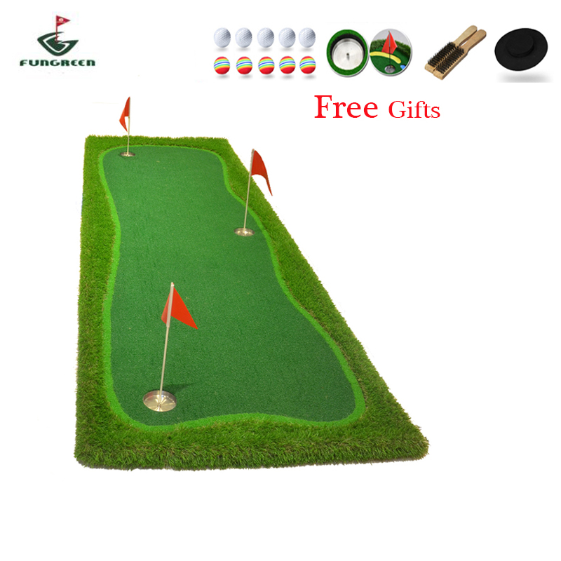 FUNGREEN 1X3M Indoor & Outdoor Mini Golf Putting Green Practice Turf Putting Green Golf Training Green With Free Gift OEM Logo crestgolf indoor golf mats putting green golf practice green golf training aids with artificial turf and blanket for choice