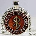 1pcs Viking Peace Rune in Runic Circle pendant jewelry Glass Cabochon Necklace