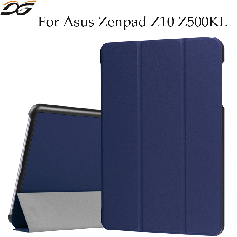 50pcs Tablet Case for ASUS ZenPad 3S 10 Z500KL Z10 ZT500KL 9.7'' inch 3 Tri Folding Fold Foldable Folio Stand Leather Case Cover