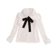 Здесь можно купить  Toddlers White Shirts For Girls Clothing Chiffon Girls Blouses Spring Autumn Teenage Bottoming Clothes Students School Uniforms  Children