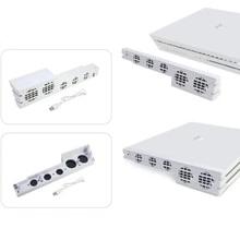 화이트 PS4 프로 쿨러, USB 외부 5 팬 슈퍼 터보 온도 냉각 팬 소니 플레이 스테이션 4 프로 게임용 USB 케이블