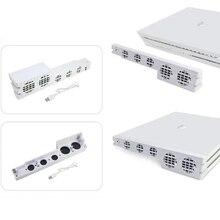 أبيض PS4 برو برودة ، USB الخارجية 5 مروحة سوبر توربو درجة الحرارة مروحة التبريد مع USB كابل لسوني بلاي ستيشن 4 برو الألعاب