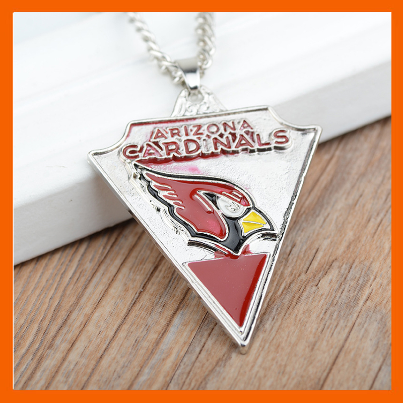 ARIZONA CARDINAL S CHAMPIONSHIP NECLKLACE TRIANGLE SPORTS JEWELRY