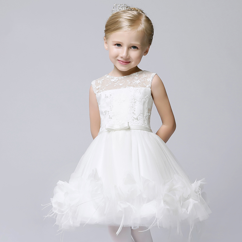 kids girls tutu dress new flower girl pageant dresses for wedding birthday costumes knee-length ball gown princess dress