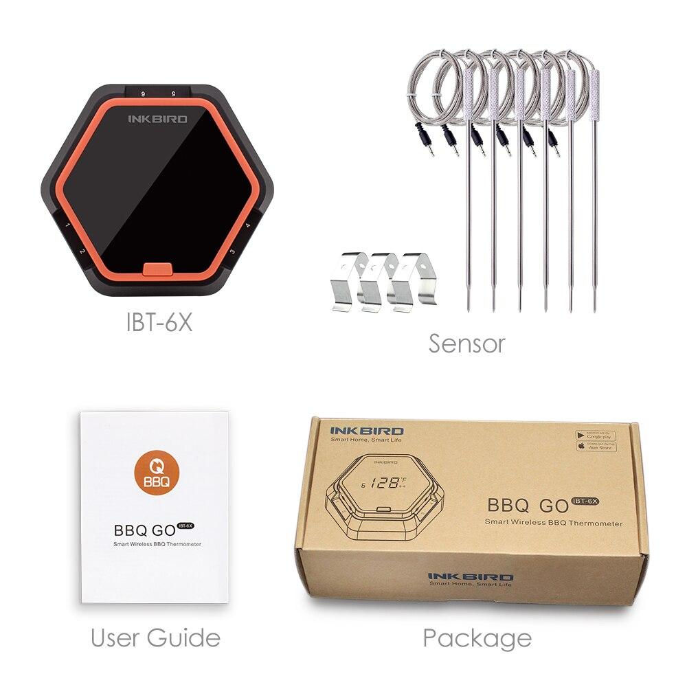 Buy Inkbird Ibt 6x Digital Food Cooking Bluetooth Electronic Thermometer Circuit Diagram 6 X Sensors