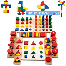 2017 Top Brand Children Toy 8 Ways Playing Baby Wooden Building Block Early Educational Toys Intellectual