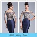 Moda 2015 resortes más el tamaño madre de la novia vestidos encaje madre de la novia vestidos hasta la rodilla para la boda chaquetas ( MOTB-910 )