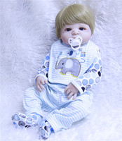 22inch reborn dolls full silicone boy reborn baby doll real looking vinyl newborn handmade lifelike doll kids birthday gift toys