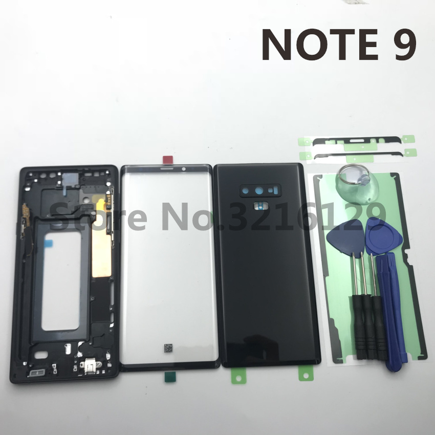 Original Full Housing Case Back Cover Front Screen Glass Lens Middle Frame For Samsung Galaxy NOTE
