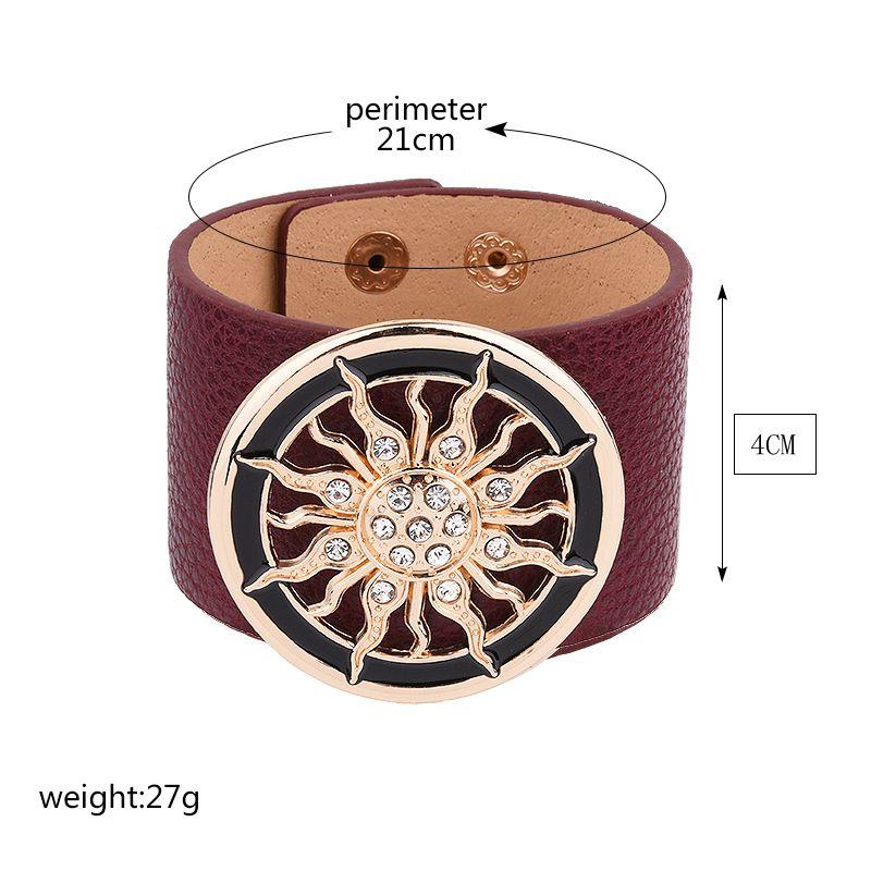 New-Fashion-PU-Leather-Bracelets-for-Women-Wide-Circle-Buckle-Bracelet-Bangles-Adjustable-Wrap-Bracelet-Women