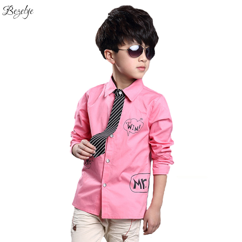 Children shirt for boys formal shirts with long sleeves for Boys white formal shirt
