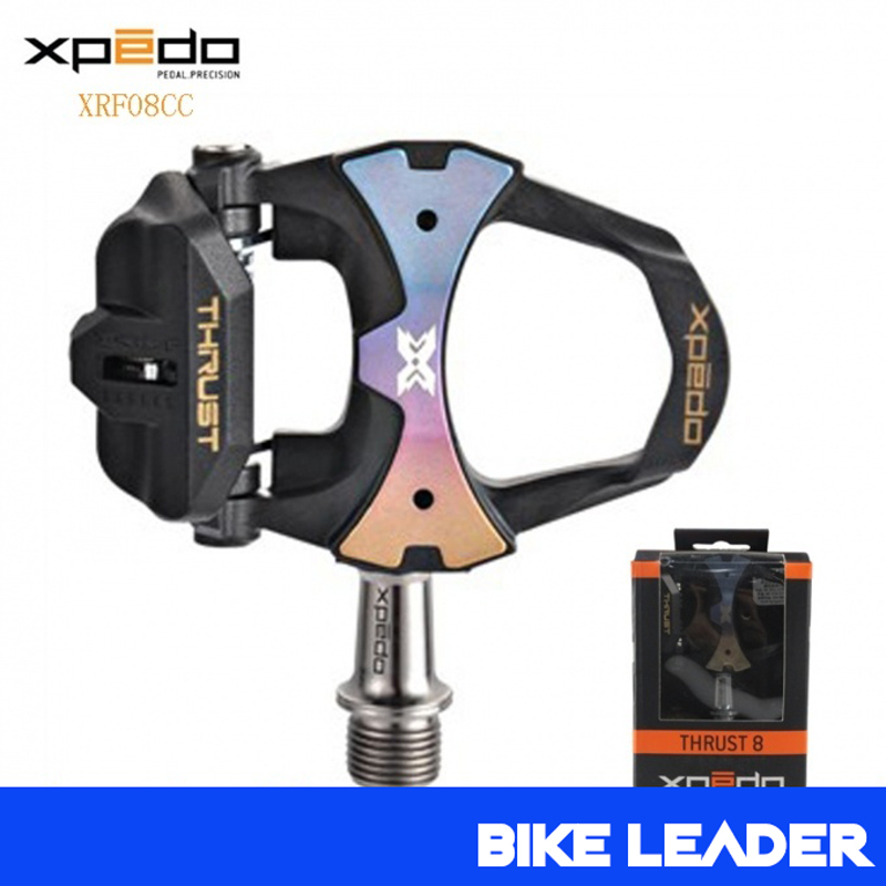 Wellgo Xpedo XRF08CC Thrust Carbon Self Locking 3 Sealed Bearing Ultra Light Clipless Road Bike Pedals Black Bicycle Pedal wellgo cycling road pedals self lock light weight upgraded version bicycle bike cycle cleat pedal black pedales bicicleta road
