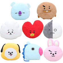 Kpop BTS BT21 Plush Toys BTS Pillow Dolls Tata Van Cooky Chimmy Shooky Koya Peluche cushion stuffed Toy fan Gift 24-32cm(China)