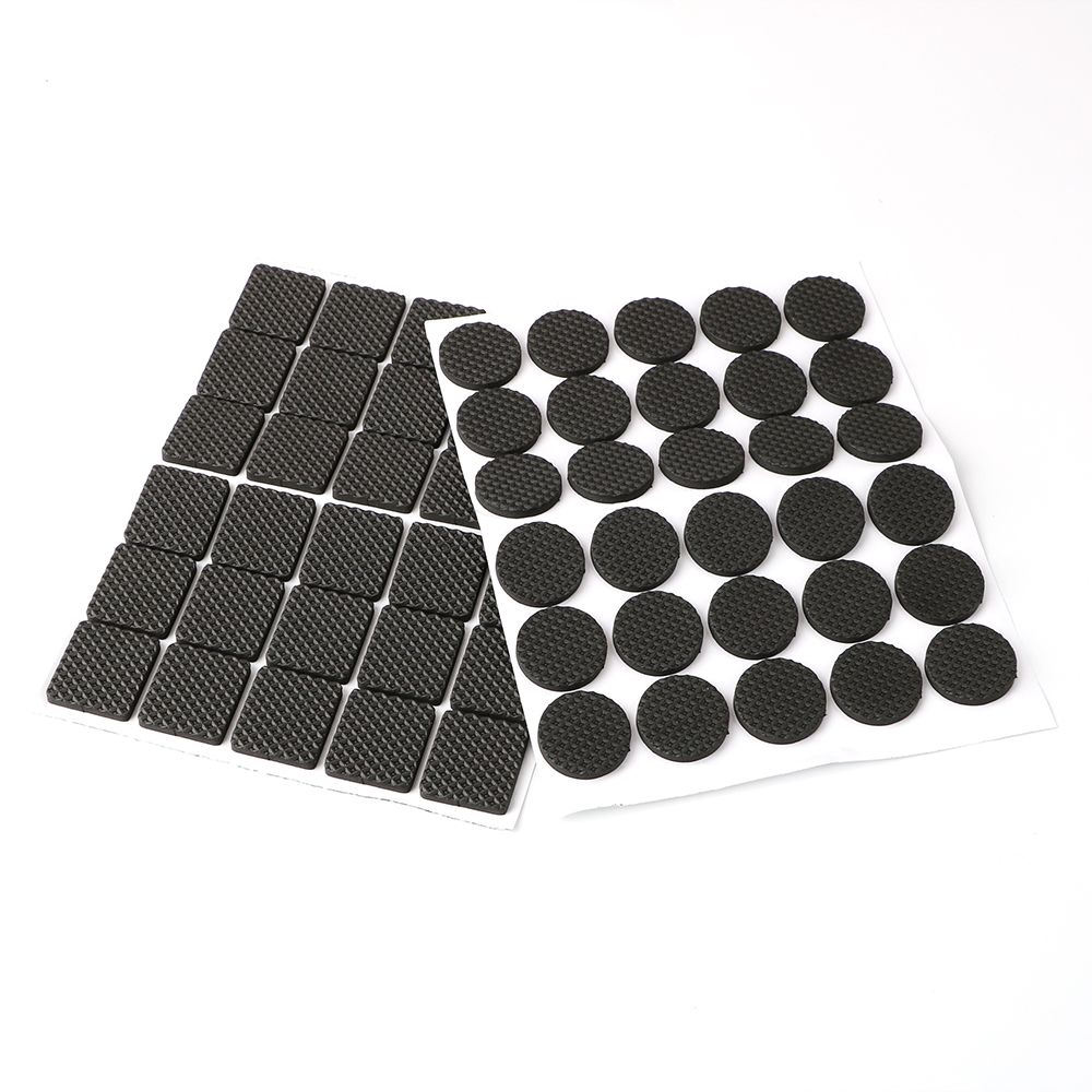 30pcs Anti-skid Self Adhesive Furniture Leg Feet Mat Round Square Sofa Chair Leg Sticky Pad Rubber Table Feet No-Slip Pad