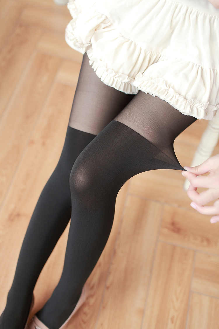c2f3d174c W776 Sexy Pantyhose Tights Women Stockings kawaii heart Thin Sheer Long for  Spring Fall Winter Multi