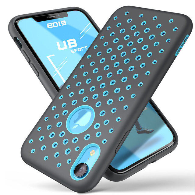 For iphone XR Case 6.1 inch SUPCASE UB Sport Liquid Silicone Rubber PC Premium Hybrid Case [Hole Pattern] with Heat Dissipation