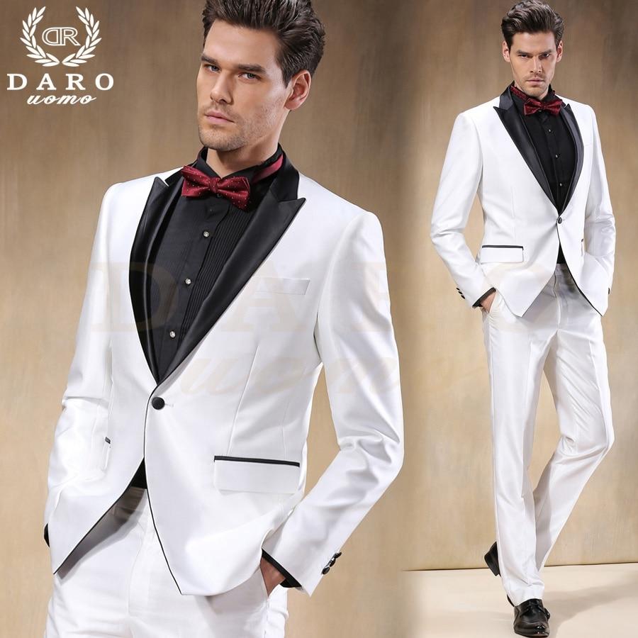 2016 Custom Made White Satin Groom Tuxedos Black Lapel 2 ...