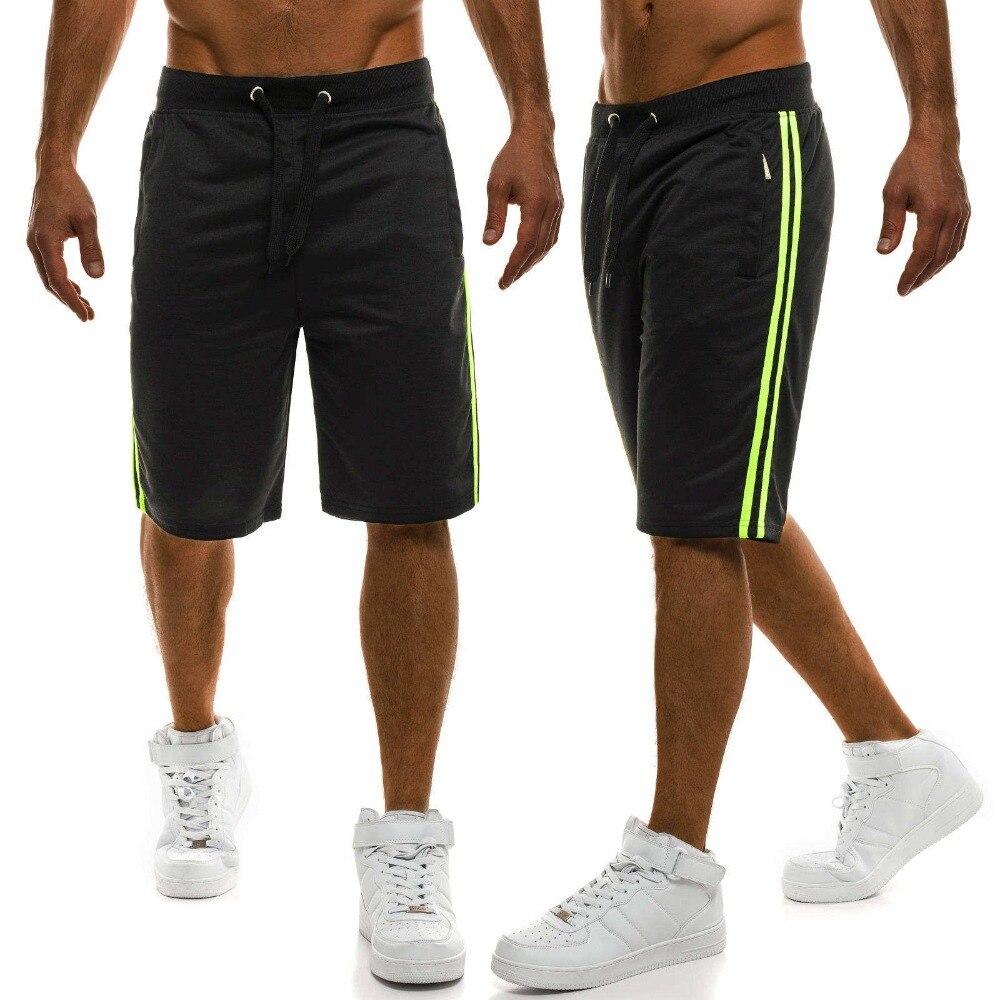 Zogga Summer Cotton Shorts Men Fashion Casual Striped Loose Drawstring Shorts Breathable Male Comfortable Shorts