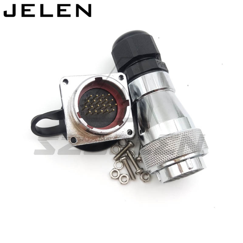 WF28 serie 20pin Industrial waterproof connector, Male(socket) and female(plug) waterproof connectors 20pin plug and socket, abb industrial connector four pole mobile industrial plug 63a 363p6