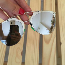 Cat Eye / aviation Mirror Sun Glasses / Rose Gold