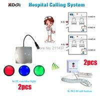 Verpleegkundige draadloze systeem voor nuring thuis K-W2-H geïnstalleerd op elke ouderen bed en kamer licht voor verpleegkundige van buiten