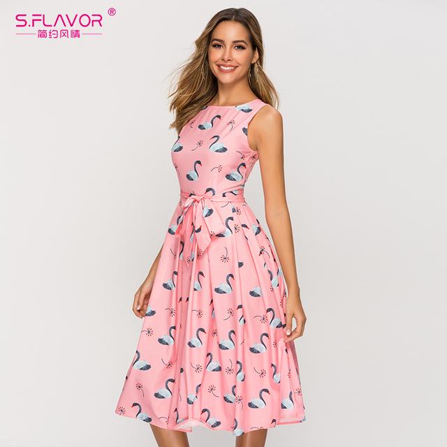Pink Elegant Classic A-line Dress