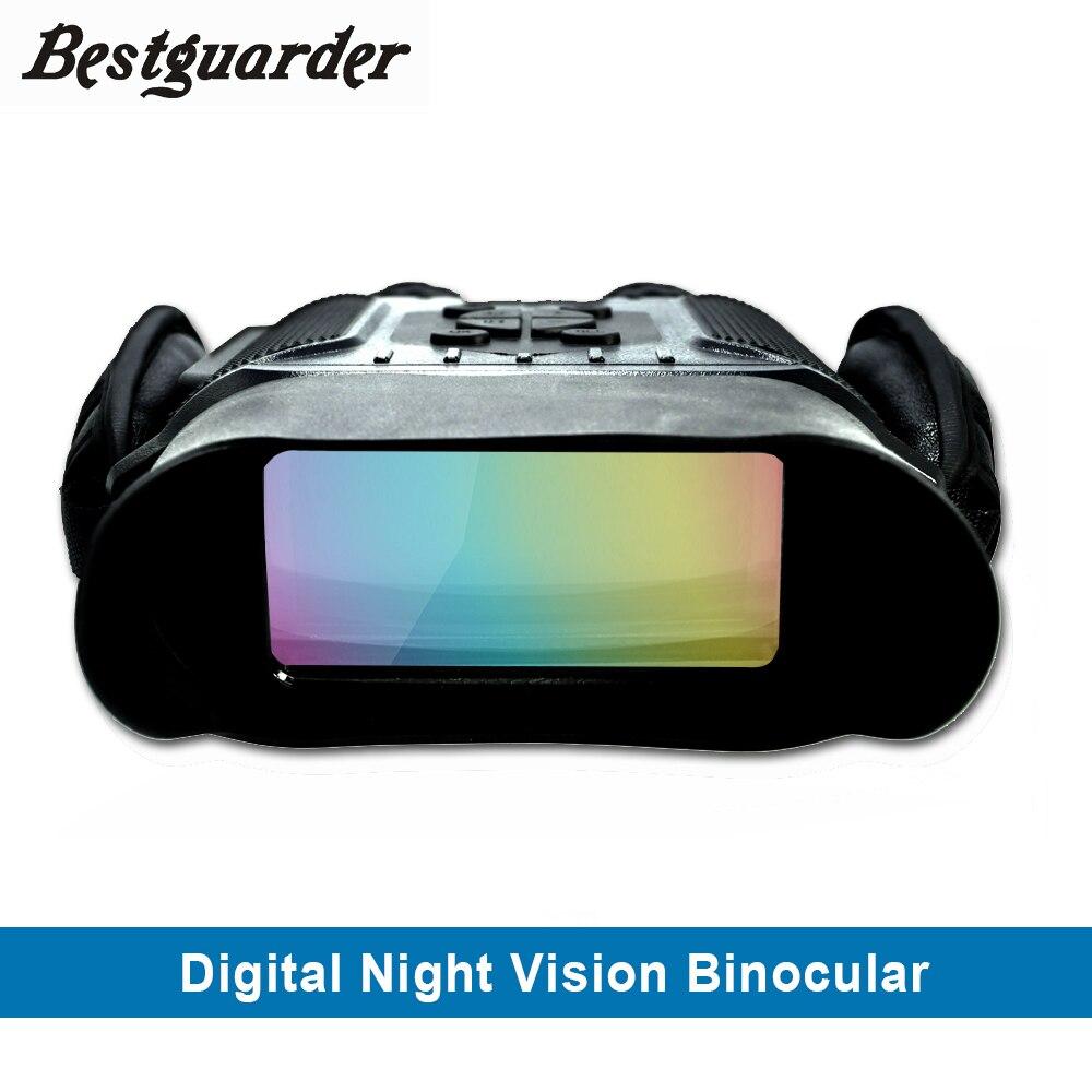 Vision nocturne professionnelle 32G IPX4 400 m HD IR caméra Photo vidéo 5x Zoom set temps jumelles monoculaires grand écran pour la chasse