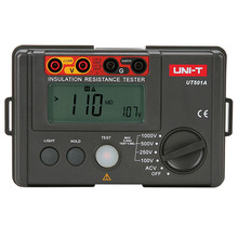 лучшая цена Original UNI-T UT501A 1000V Insulation Resistance Meter Ground Tester Megohmmeter Voltmeter w/LCD Backlight Power Resistor