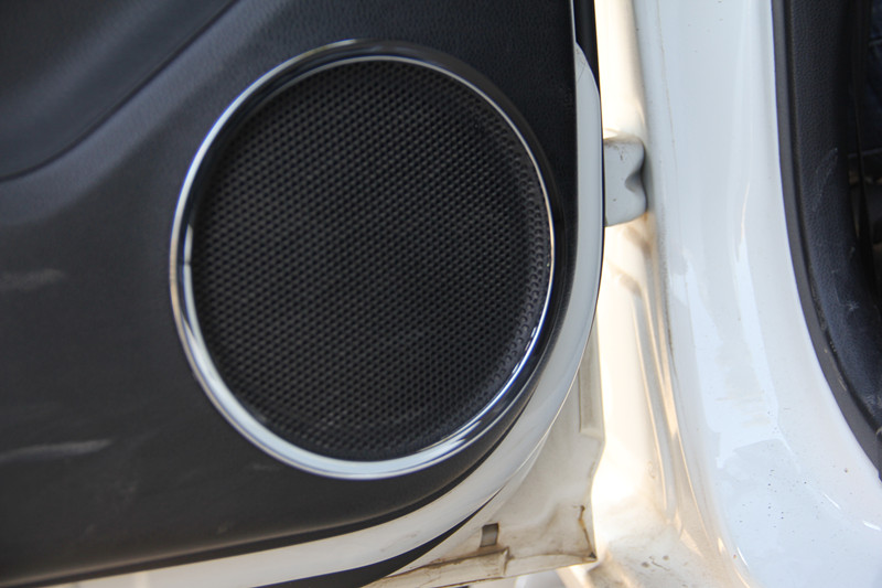For Nissan Qashqai J11 2014 2015 2017 Door Speaker Box Plated Ring Panel Decoration Car Styling