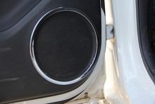 Para Nissan Qashqai J11 2014 2015-2017 Porta Caixa de Som Anel Banhado Painel Decoração Estilo Do Carro Etiqueta Auto Acessórios 4 Pcs