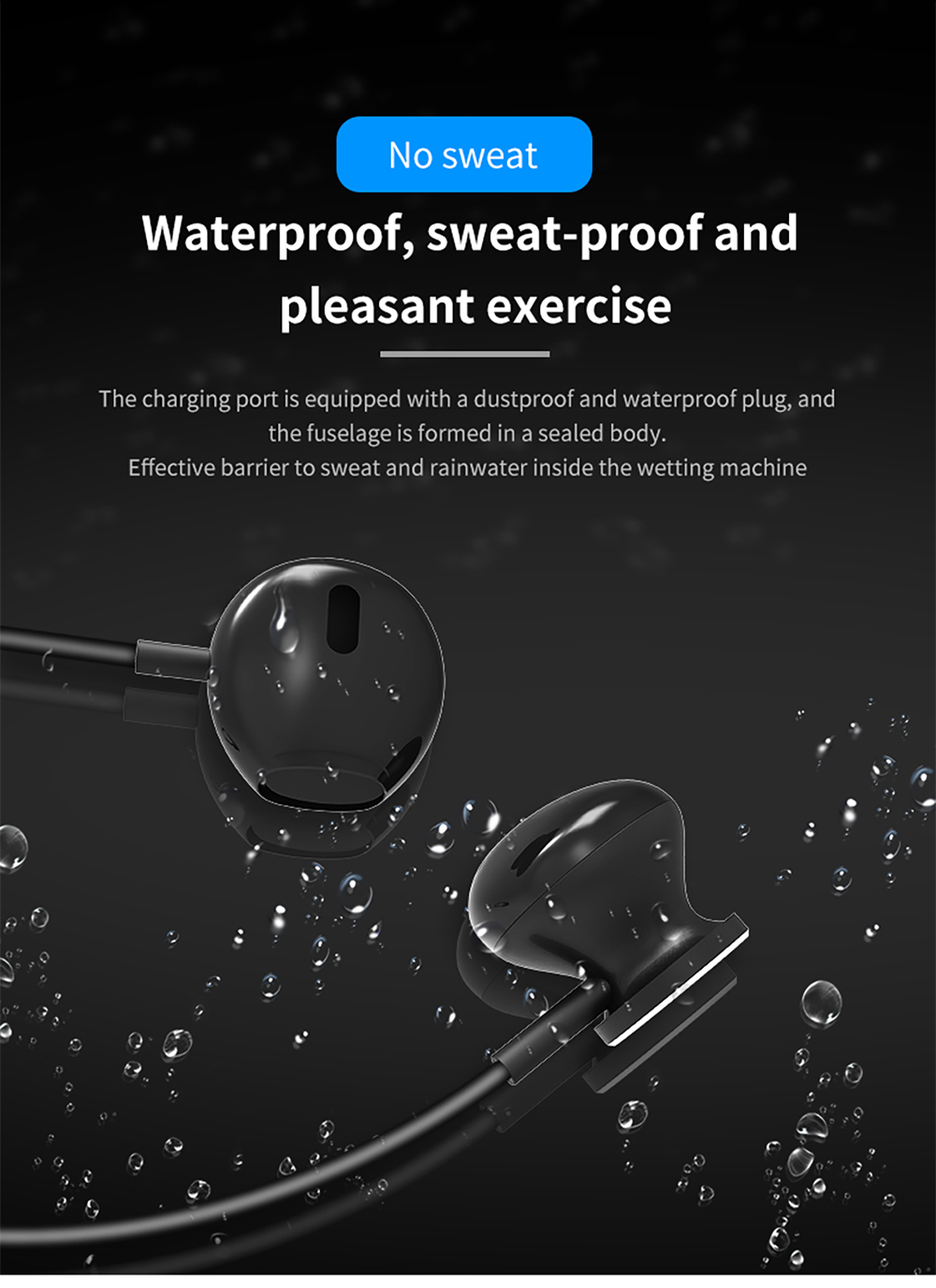 X7 Plus Neck Mounted Wireless Bluetooth Earphone 4 2 In ear Large Capacity Magnetic Suction Motion Headset Cuffie Fones Kulaklik in Bluetooth Earphones Headphones from Consumer Electronics