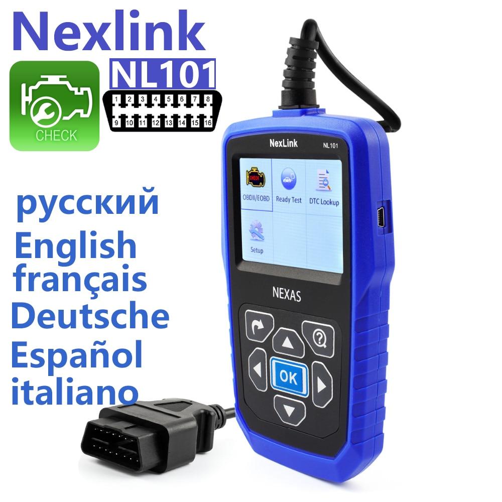 Цена за Профессиональный OBD2 сканер Nexlink nl101 Код ошибки чтения автомобилей OBD сканирования автомобильной Автосканер automovil диагностики ELM OBD-II