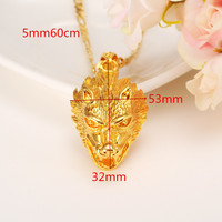 Popular Big Trendy Fashion Men S Women 22k Yellow Fine Gold Filled Cool Style Dragon Panther