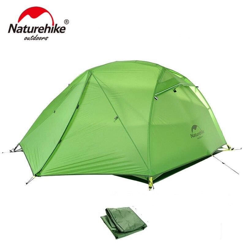 NatureHike Extérieure 2 Personne Camping Tente 4 saison 2 Homme Ultra-Léger Portable Meilleur Randonnée Cyclisme Randonnée Tentes
