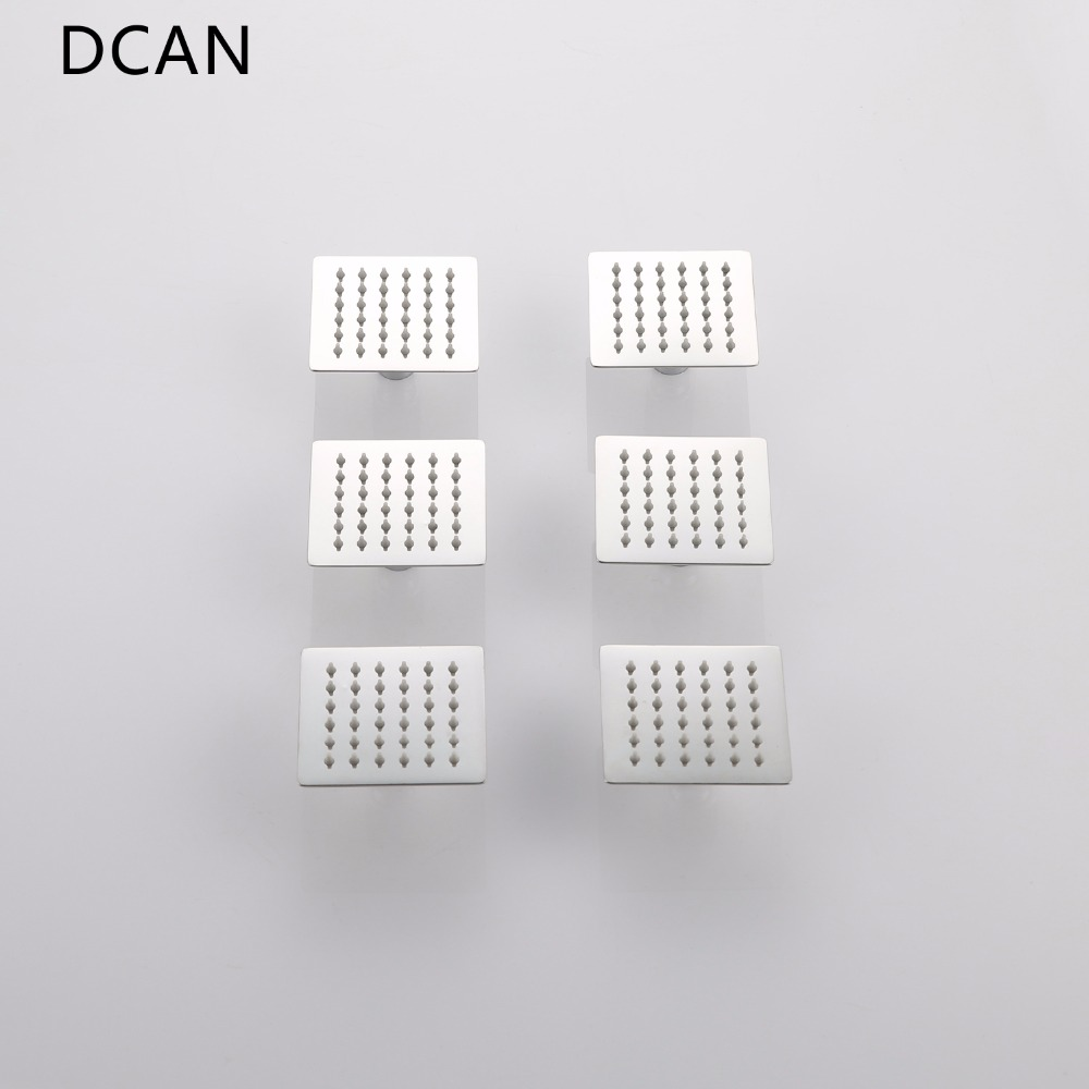 DCAN 4'' SPA Shower Body Jet Nozzle Rainfall Body Spray Jet Bathroom Accessories Ultra-thin 98*98*2 mm Shower Massage Sprayer