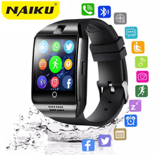 цены на Bluetooth Smart Watch men Q18 With Camera Facebook Whatsapp Twitter Sync SMS Smartwatch Support SIM TF Card For IOS Android  в интернет-магазинах