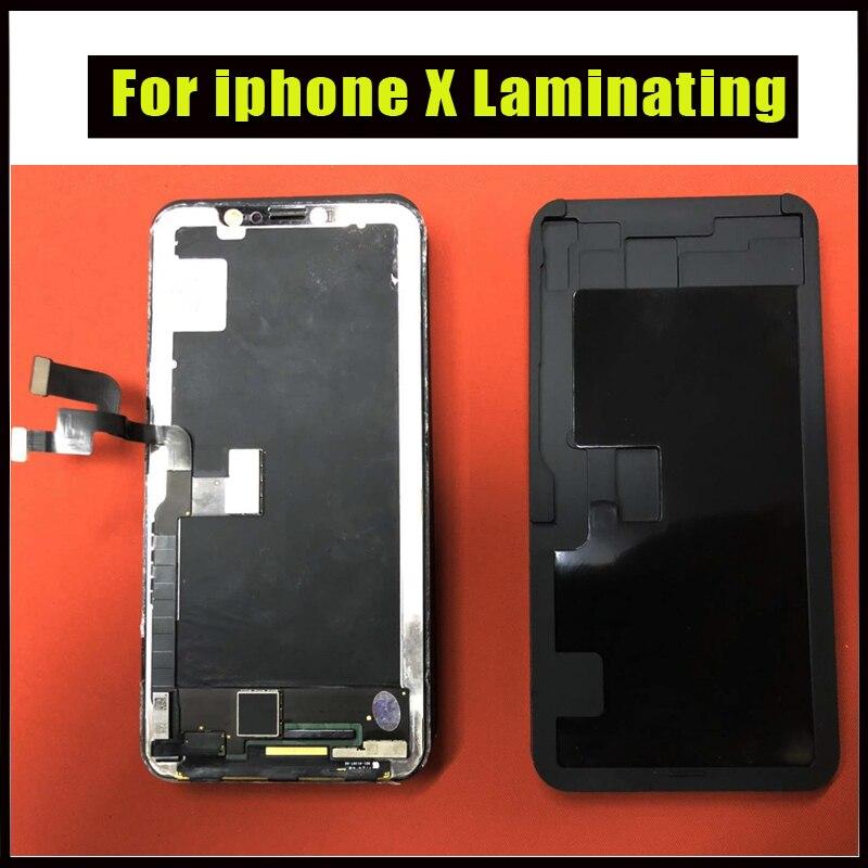 1pcs Best Black Laminator Silica pad For iphone X 8 7 6 6S plus Pressure LCD Laminating machine rubber pad No turn over flex